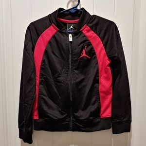 Air Jordan Jacket Black/Red Youth Size XS 3-4yrs